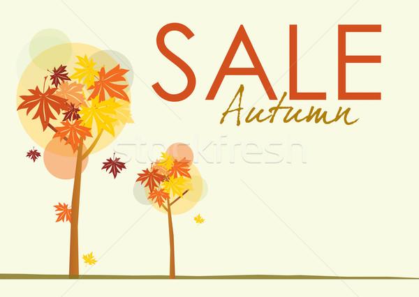 Autumn Sale Poster Stock photo © naffarts