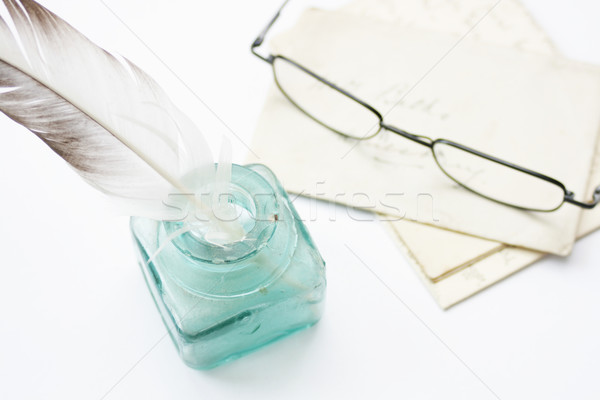 Quill, Letters & Glasses Stock photo © naffarts