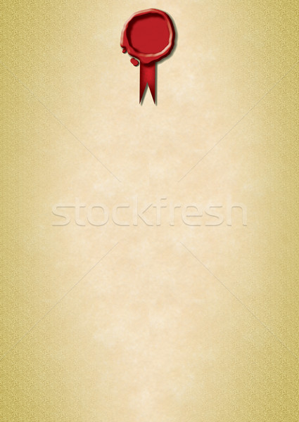Red Wax Seal on parchment Stock photo © naffarts