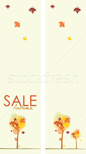 Autumn Sale Banners Stock photo © naffarts