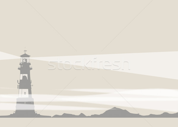 Lighthouse and Rocks Stock photo © naffarts