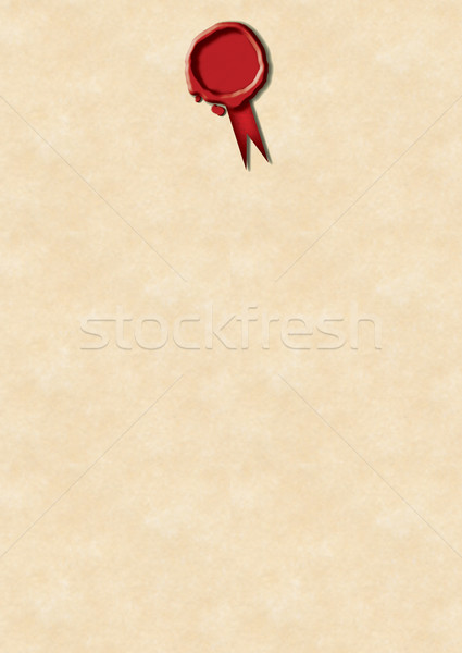 Red Wax Seal and Parchment  Stock photo © naffarts