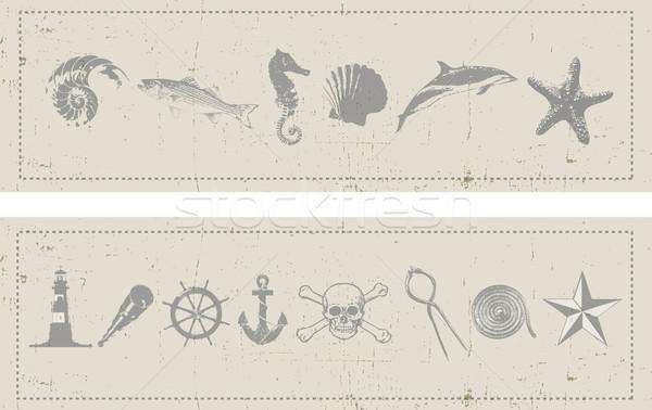 Nautical Banners Stock photo © naffarts