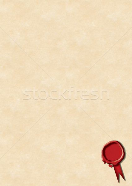 Wax Seal & Parchment Paper Stock photo © naffarts