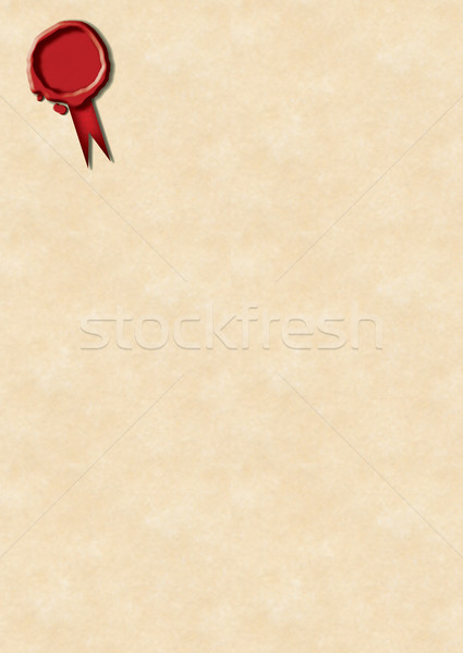 Wax Seal and parchment paper Stock photo © naffarts
