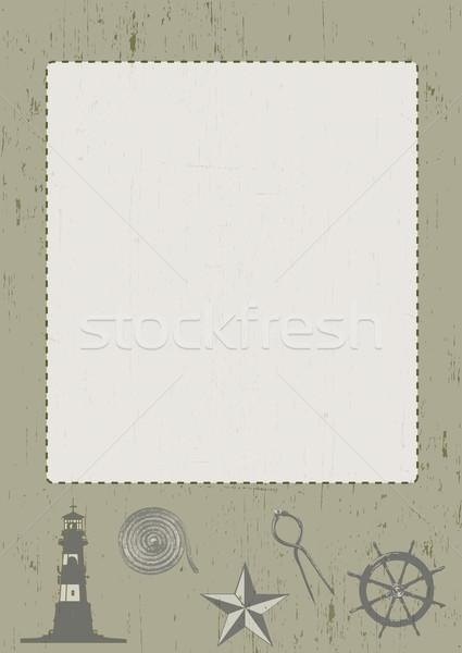 Nautical Themed Frame Stock photo © naffarts