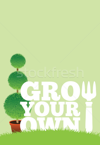 Garden Poster Stock photo © naffarts