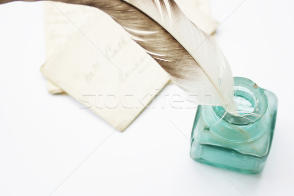 Feathered Quill Stock photo © naffarts