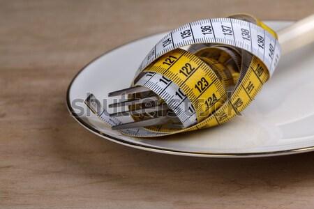 Diyet çatal simge ağırlık azalma Stok fotoğraf © nailiaschwarz