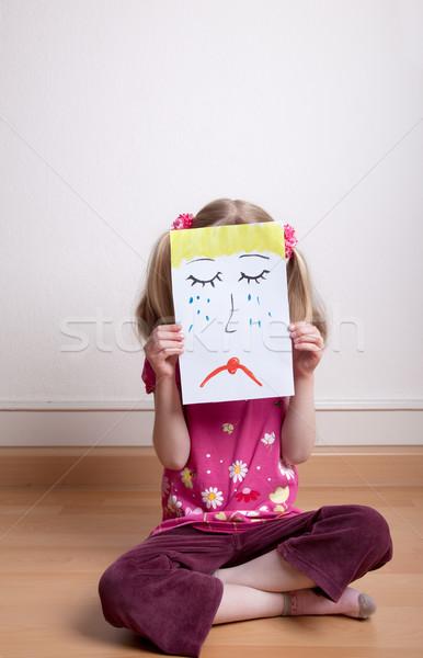 üzücü yüz küçük kızlar Stok fotoğraf © nailiaschwarz