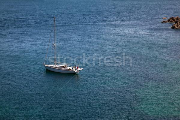 Anchored Ship Stock photo © nailiaschwarz