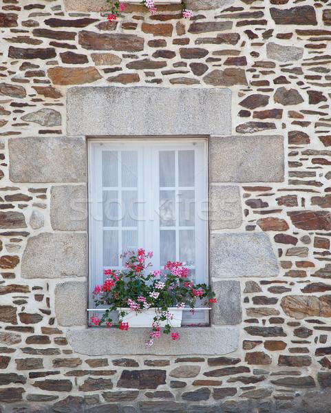 Window with Flower Decoration Stock photo © nailiaschwarz