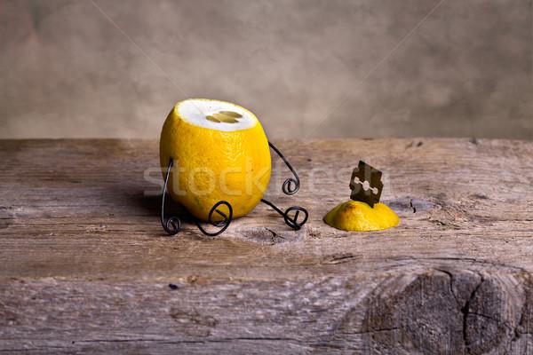 Headless lemon Stock photo © nailiaschwarz