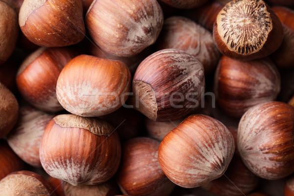 Muitos inteiro maduro marrom Foto stock © nailiaschwarz