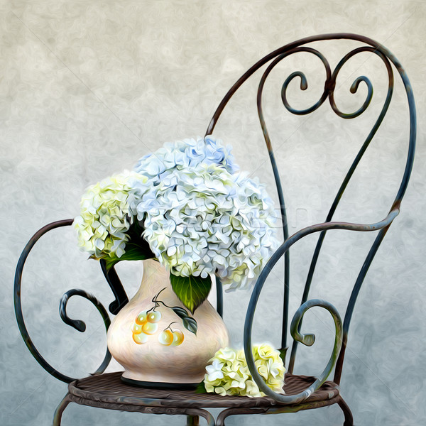 Hortensia Painting Stock photo © nailiaschwarz