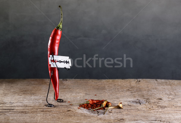 シャープ 唐辛子 ホット 赤 ストックフォト © nailiaschwarz