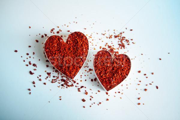 Red Hot Chili Hearts Stock photo © nailiaschwarz
