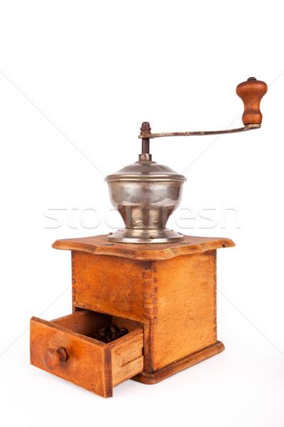 コーヒー ミル 古い 壊れた 白 金属 ストックフォト © nailiaschwarz