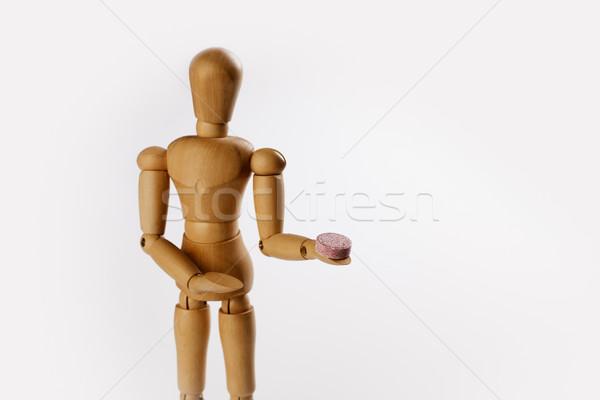 Pillola legno fantoccio offrendo legno Foto d'archivio © nailiaschwarz