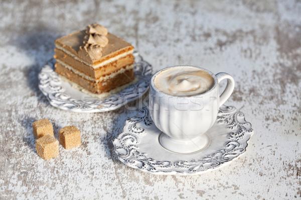 Coffe and Cake Stock photo © nailiaschwarz