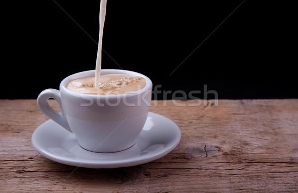 Coffee with Milk Stock photo © nailiaschwarz