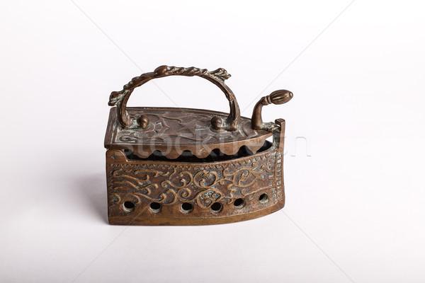 Antiguos cobre hierro decorativo caliente casa Foto stock © nailiaschwarz