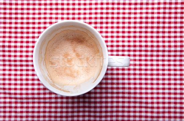 Boş kahve fincanı bez kahvaltı fincan Stok fotoğraf © nailiaschwarz