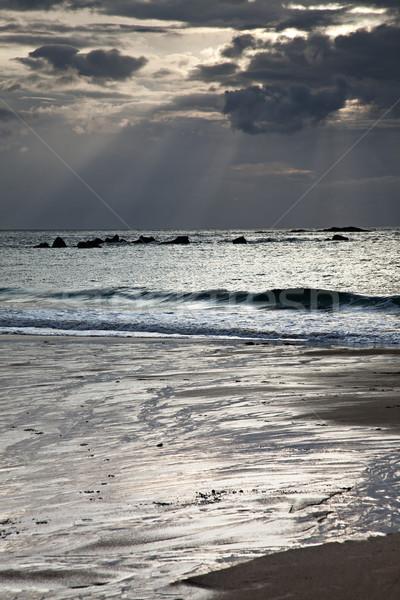 ビーチ 空 水 雲 太陽 光 ストックフォト © nailiaschwarz