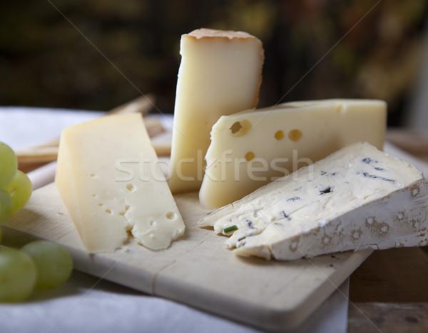 チーズ ブドウ 3  フランス語 白 食品 ストックフォト © nailiaschwarz
