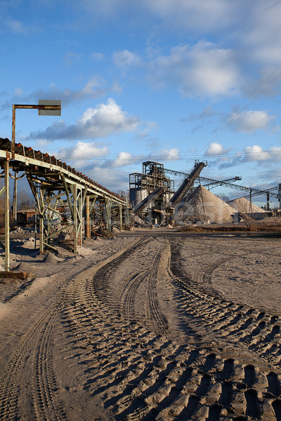 Open pit mining for sand and gravel Stock photo © nailiaschwarz