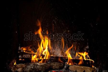 Fireplace Stock photo © nailiaschwarz