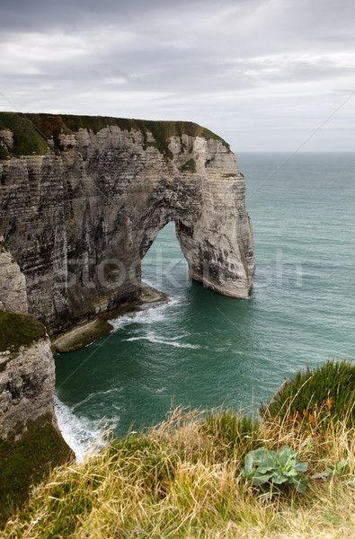 Rupe arch costa normandia Francia cielo Foto d'archivio © nailiaschwarz