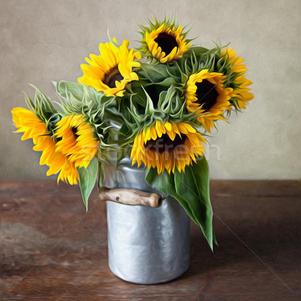 Sunflowers Painting Stock photo © nailiaschwarz
