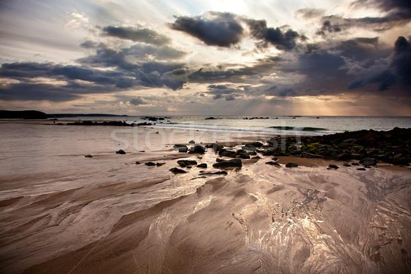 пляж небе воды облака солнце свет Сток-фото © nailiaschwarz