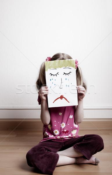 Triste cara pequeno meninas Foto stock © nailiaschwarz