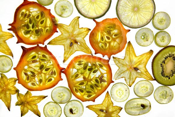Exotique mélange de fruits variété fraîches fruits coupé Photo stock © nailiaschwarz