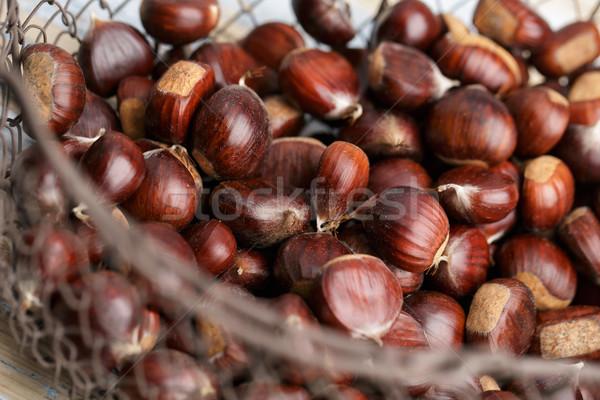 Basket fresche dolce foresta autunno alimentare Foto d'archivio © nailiaschwarz
