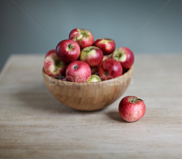 Fresh Red Apples Stock photo © nailiaschwarz