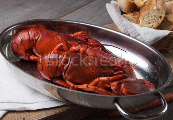Cozinhado lagosta servido inteiro jantar Foto stock © nailiaschwarz