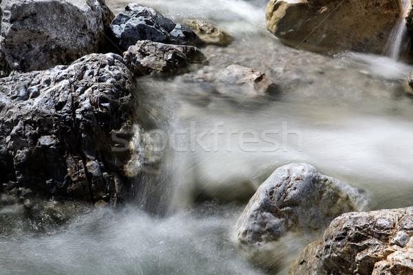 Hegy patak édesvíz folyik kicsi alpesi Stock fotó © nailiaschwarz