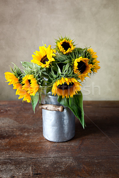 Sunflowers Still Life Stock photo © nailiaschwarz