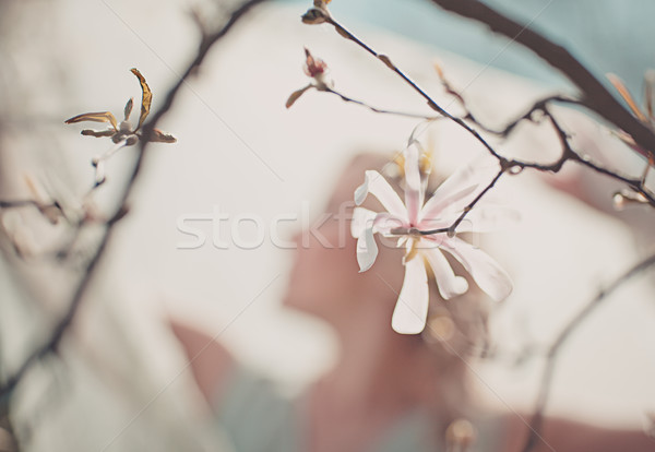 Artistic ethereal portrait of a woman