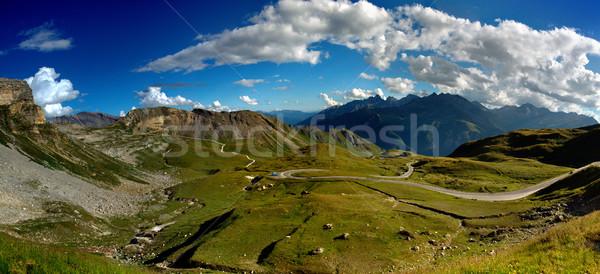 Yüksek alpine yol Avusturya Avrupa gökyüzü Stok fotoğraf © nailiaschwarz