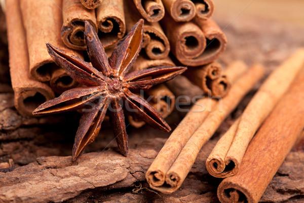 Anis canela estrelas vinho tabela Foto stock © nailiaschwarz