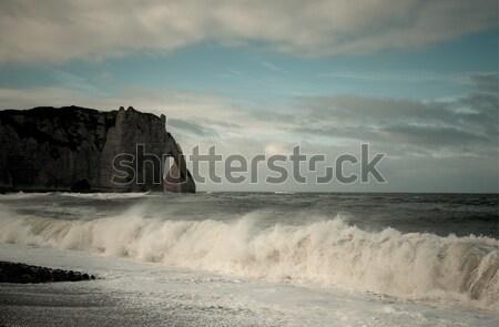 Zdjęcia stock: Niebo · chmury · morza · Europie · w. · widoku