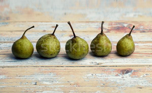 小 緑 梨 5 木板 ストックフォト © nailiaschwarz