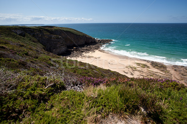 Kust cap landschap strand wolken Stockfoto © nailiaschwarz