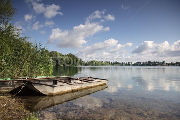 Boat on Lake Stock photo © nailiaschwarz