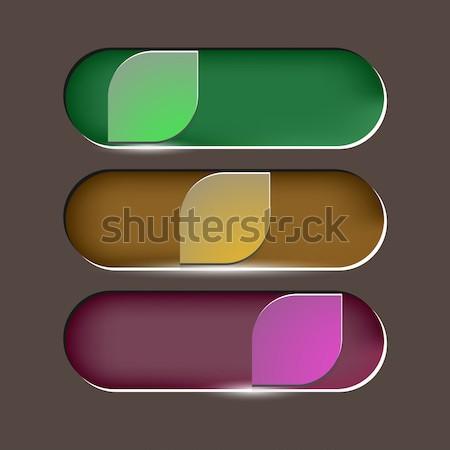 Design foglie pulsante rosolare stock vettore Foto d'archivio © nalinratphi