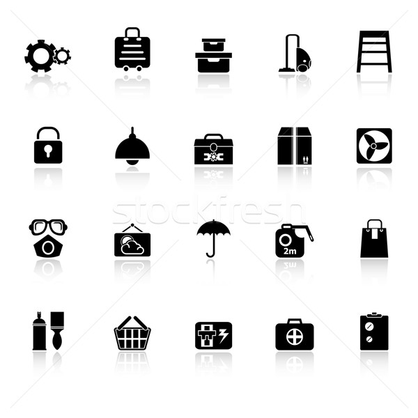 Home Lagerung Symbole weiß hat Vektor Stock foto © nalinratphi